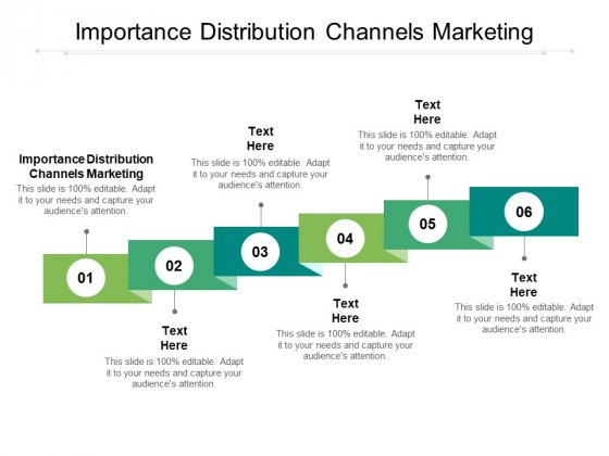 Importance Distribution Channels Marketing Ppt PowerPoint Presentation Infographic Template Icons Cpb Pdf