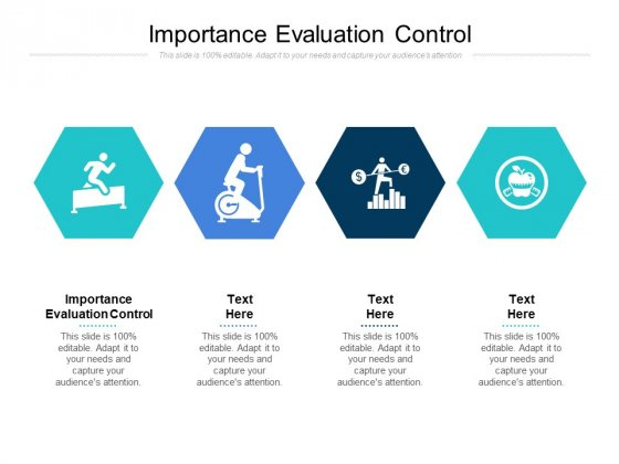 Importance Evaluation Control Ppt PowerPoint Presentation Infographics Samples Cpb