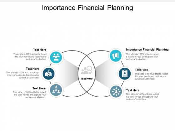 Importance Financial Planning Ppt PowerPoint Presentation Model Background Designs Cpb