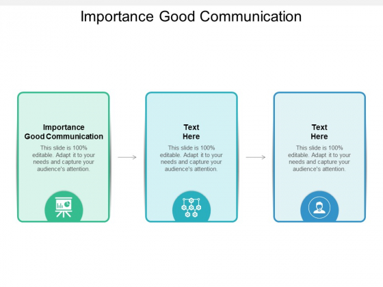 Importance Good Communication Ppt PowerPoint Presentation Slides Designs Download Cpb