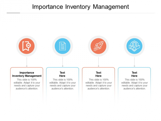 Importance Inventory Management Ppt PowerPoint Presentation Icon Slide Portrait Cpb