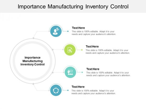 Importance Manufacturing Inventory Control Ppt PowerPoint Presentation Layouts Slides Cpb