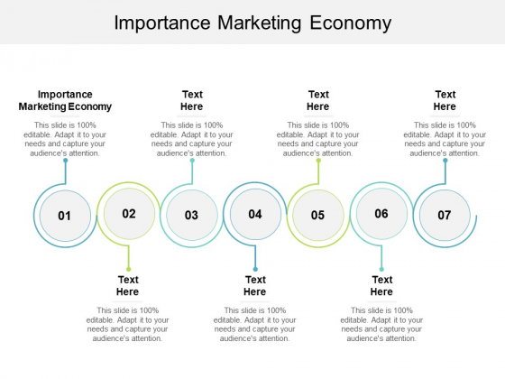 Importance Marketing Economy Ppt PowerPoint Presentation Summary Graphic Tips Cpb