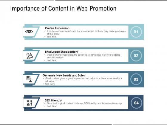 Importance Of Content In Web Promotion Ppt PowerPoint Presentation File Grid