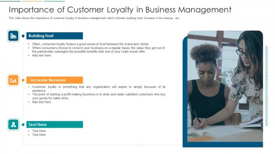 Importance Of Customer Loyalty In Business Management Ppt Professional Show PDF
