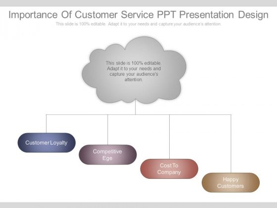 Importance Of Customer Service Ppt Presentation Design