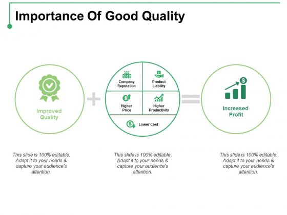 Importance Of Good Quality Ppt PowerPoint Presentation Styles Show