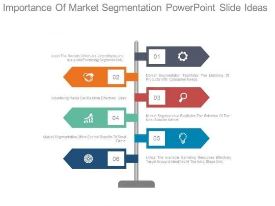 Importance Of Market Segmentation Powerpoint Slide Ideas