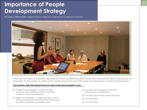 Importance Of People Development Strategy Ppt PowerPoint Presentation File Rules PDF