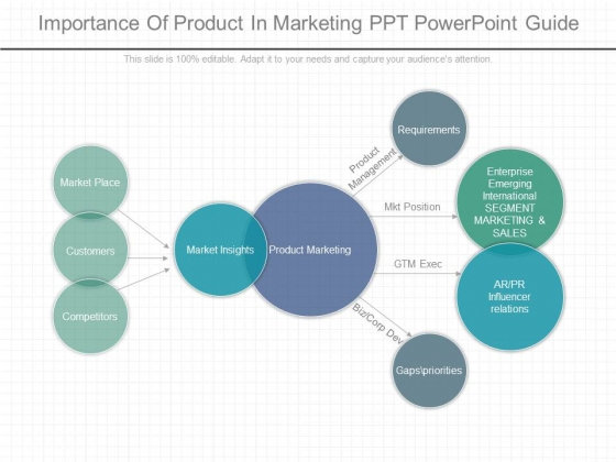 Importance Of Product In Marketing Ppt Powerpoint Guide