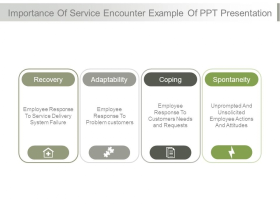 Importance Of Service Encounter Example Of Ppt Presentation