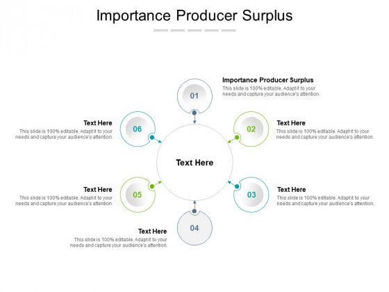Importance Producer Surplus Ppt PowerPoint Presentation Inspiration Slides Cpb Pdf