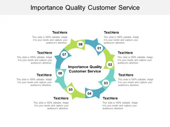 Importance Quality Customer Service Ppt PowerPoint Presentation Slides Graphics Download Cpb