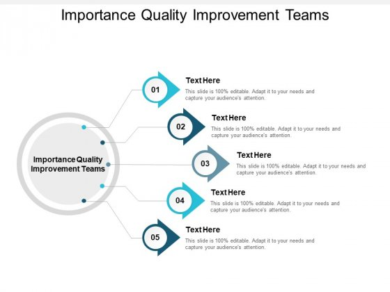 Importance Quality Improvement Teams Ppt PowerPoint Presentation Gallery Mockup Cpb