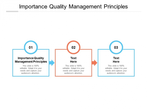 Importance Quality Management Principles Ppt PowerPoint Presentation Outline Background Images Cpb