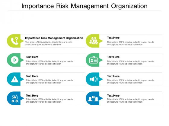 Importance Risk Management Organization Ppt PowerPoint Presentation Layouts Diagrams Cpb