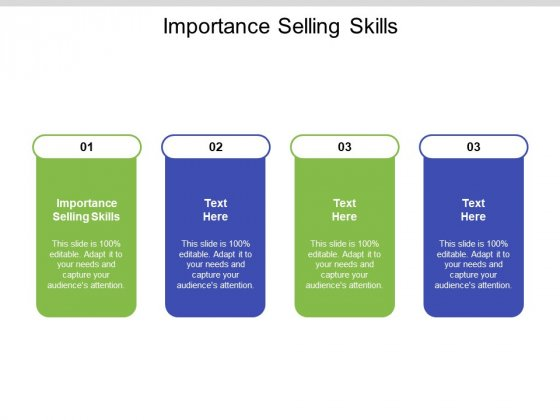 Importance Selling Skills Ppt PowerPoint Presentation Styles Professional Cpb Pdf