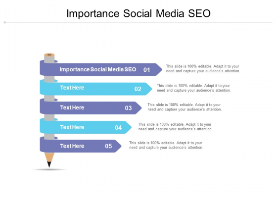Importance Social Media SEO Ppt PowerPoint Presentation Layouts Samples Cpb