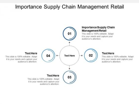 Importance Supply Chain Management Retail Ppt PowerPoint Presentation Portfolio Professional Cpb