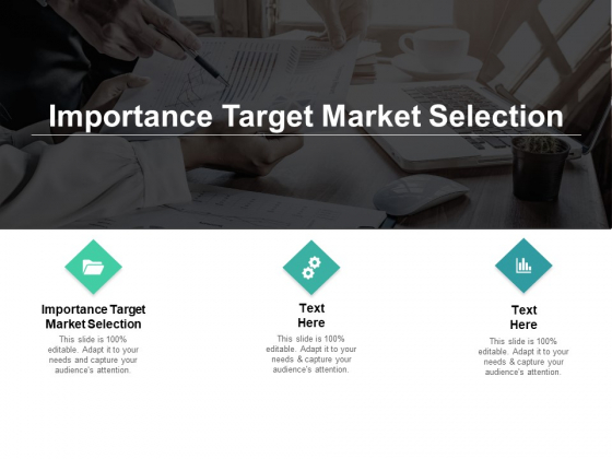 Importance Target Market Selection Ppt PowerPoint Presentation Professional Design Templates Cpb