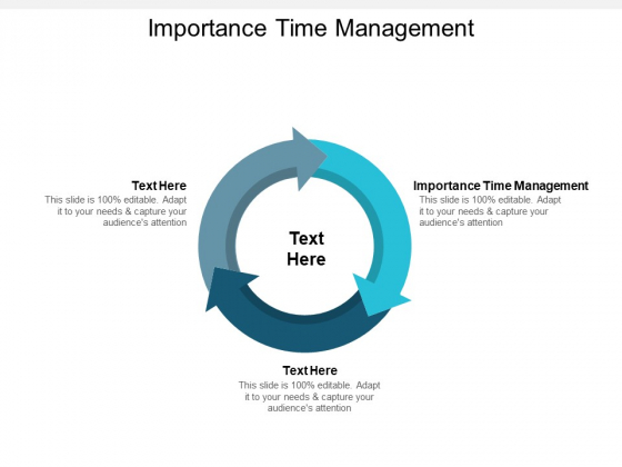 Importance Time Management Ppt PowerPoint Presentation Gallery Show Cpb