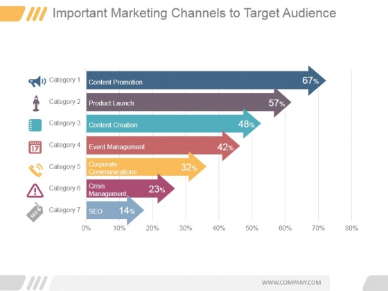 Important Marketing Channels To Target Audience Ppt PowerPoint Presentation Layout
