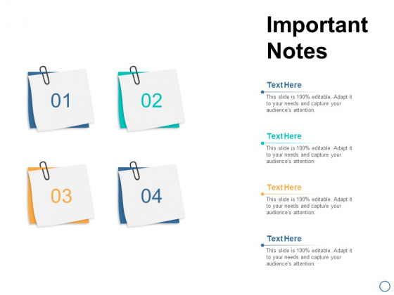 Important Notes Education Ppt PowerPoint Presentation Icon Master Slide