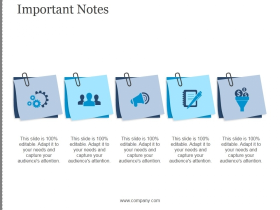 Important Notes Ppt PowerPoint Presentation Designs