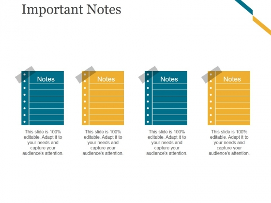 Important Notes Ppt PowerPoint Presentation Guide