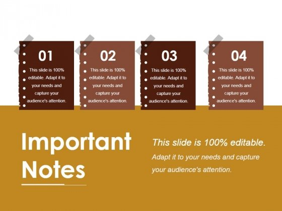 Important Notes Ppt Powerpoint Presentation Icon Outline