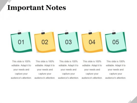 Important Notes Ppt PowerPoint Presentation Outline Visual Aids