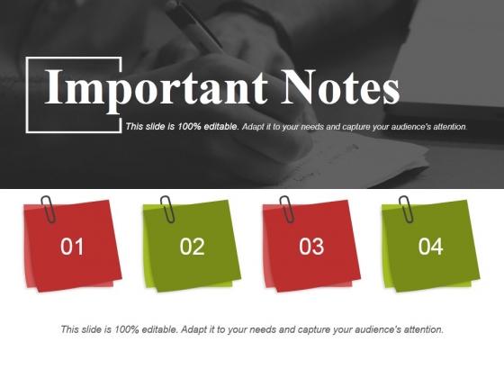 Important Notes Ppt PowerPoint Presentation Portfolio Clipart