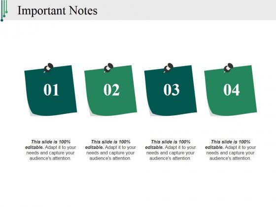 Important Notes Ppt PowerPoint Presentation Portfolio Design Ideas