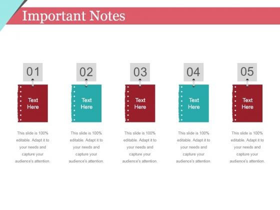 Important Notes Ppt PowerPoint Presentation Slides Design Ideas