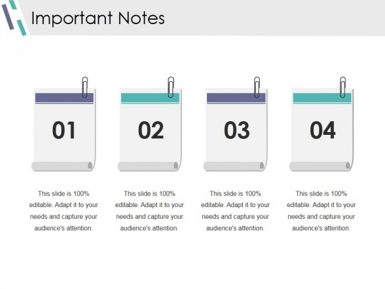 Important Notes Ppt PowerPoint Presentation Slides Maker