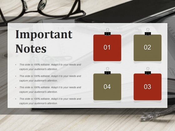 Important Notes Ppt PowerPoint Presentation Summary Background Image