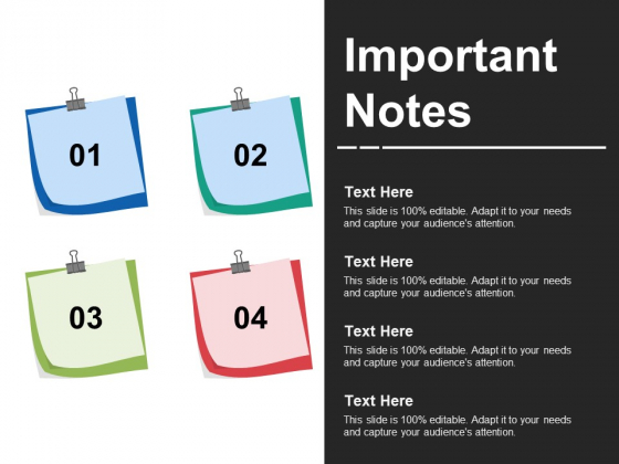 Important Notes Ppt PowerPoint Presentation Templates