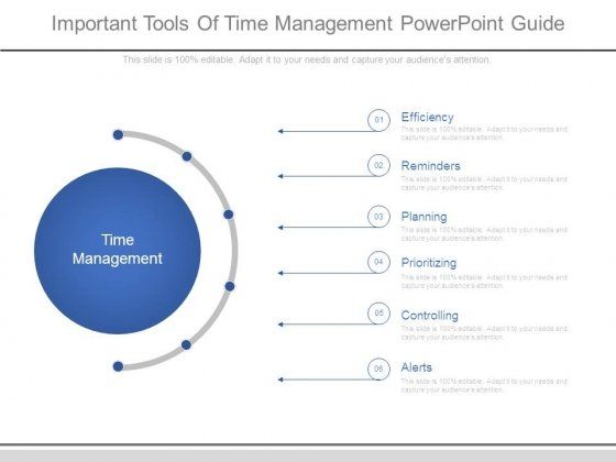 Important Tools Of Time Management Powerpoint Guide