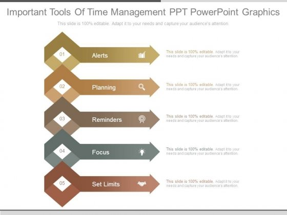 Important Tools Of Time Management Ppt Powerpoint Graphics