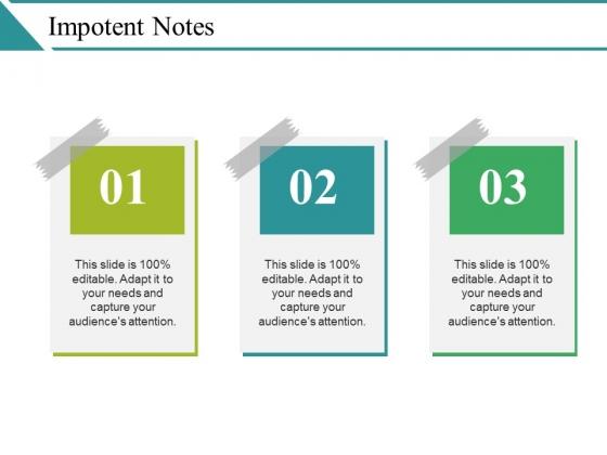 Impotent Notes Ppt PowerPoint Presentation Portfolio Graphics Download