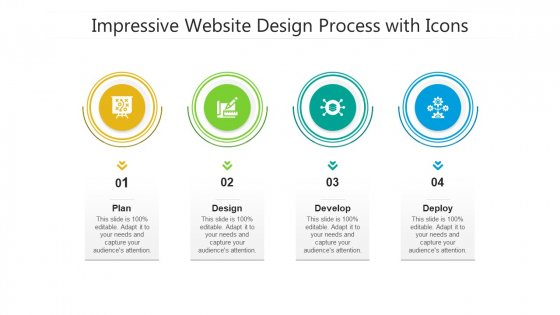 Impressive Website Design Process With Icons Ppt PowerPoint Presentation Icon Show PDF