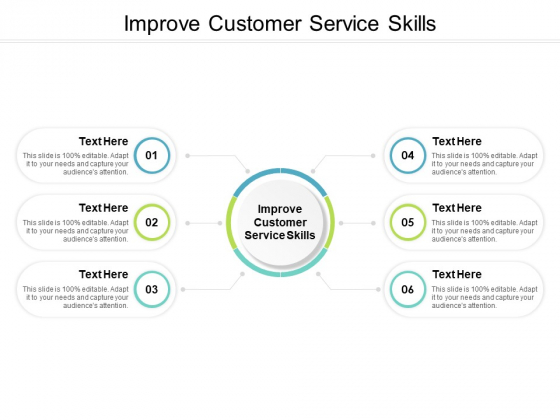 Improve Customer Service Skills Ppt PowerPoint Presentation Icon Background Cpb