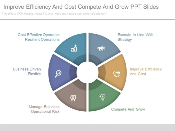 Improve Efficiency And Cost Compete And Grow Ppt Slides