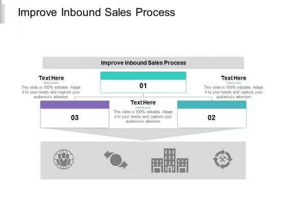 Improve Inbound Sales Process Ppt PowerPoint Presentation Icon Templates Cpb