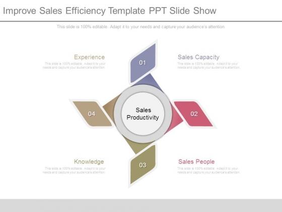 Improve Sales Efficiency Template Ppt Slide Show