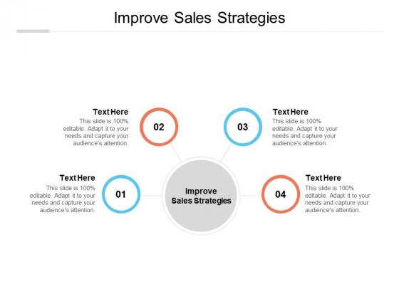 Improve Sales Strategies Ppt PowerPoint Presentation File Graphics Tutorials Cpb