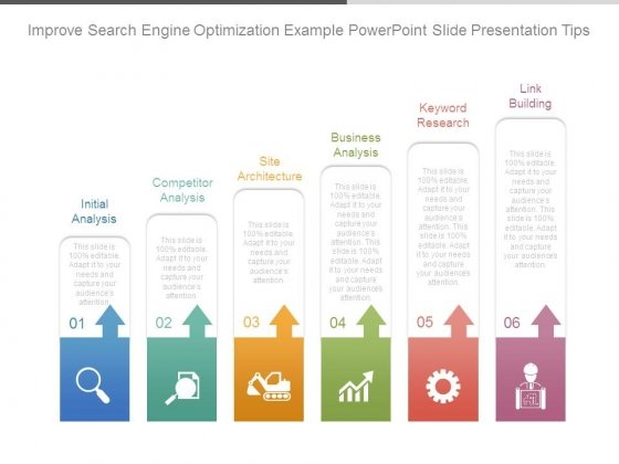 Improve Search Engine Optimization Example Powerpoint Slide Presentation Tips