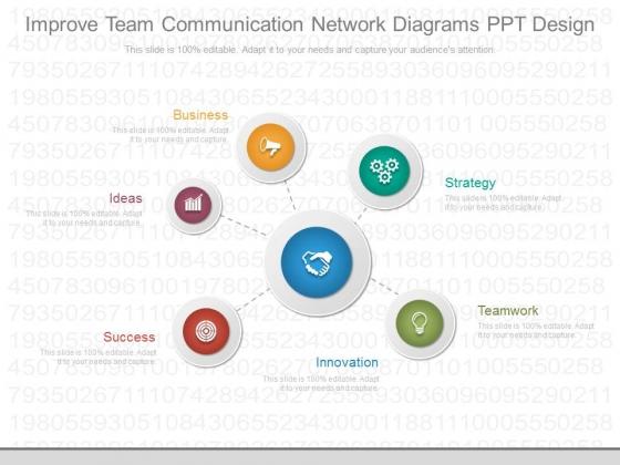 Improve Team Communication Network Diagrams Ppt Design
