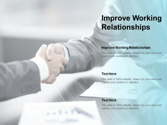 Improve Working Relationships Ppt PowerPoint Presentation Styles Brochure Cpb
