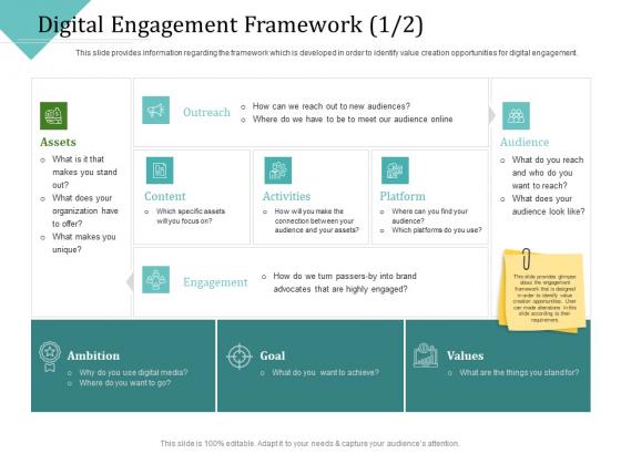 Improving Client Experience Digital Engagement Framework Assets Icons PDF